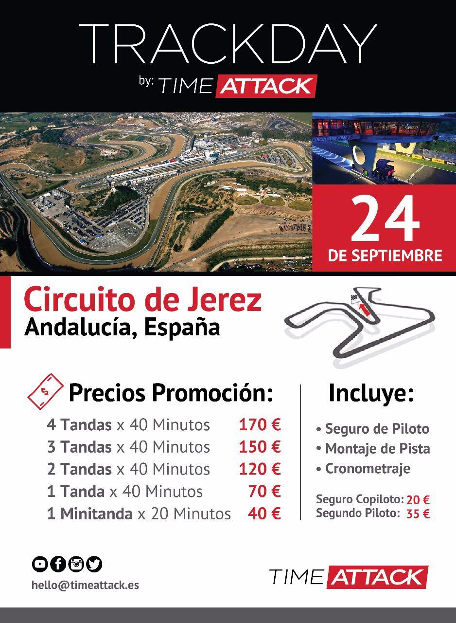 Trackday TimeAttack.es 2017 – Circuito de Jerez – 24 de Septiembre